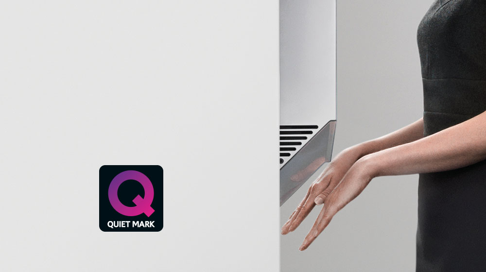 Noise Abatement Society Quiet Mark for Airblade V hand dryer