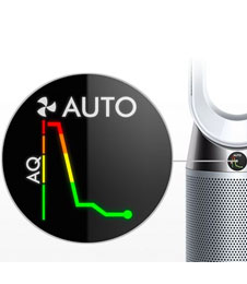 Dyson Pure Hot + Cool™ fan heater. Purification year round.